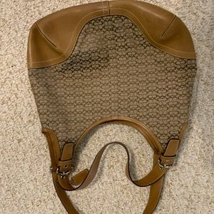 Authentic brown Coach purse